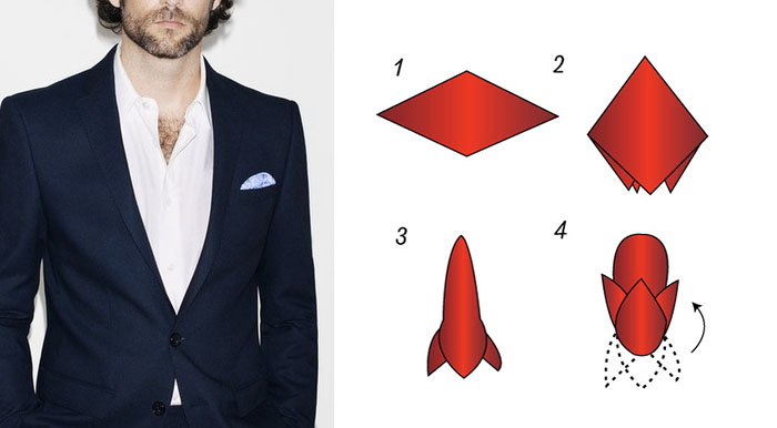 Puff fold pocket square