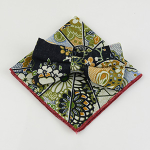 stylish bow tie pocket square set