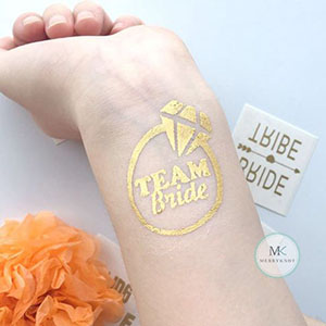 Hen Party metallic tattoo sticker