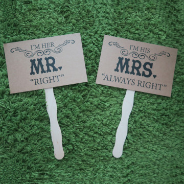 Mr Right and Mrs Always Right Photoshoot Prop image
