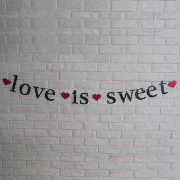 Love is sweet Wedding Banner image