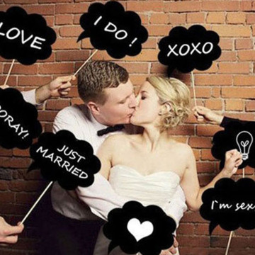 Wedding Chalkboard Set DIY Photobooth Prop image