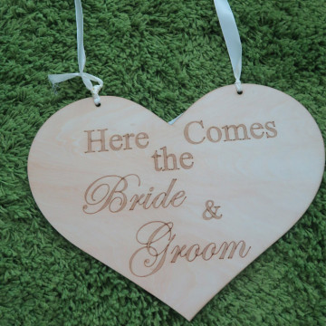 Ring Bearer Sign - Here comes the Bride and Groom image