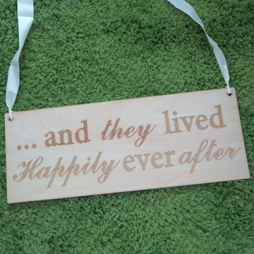 Ring Bearer Sign - Happily Ever after image
