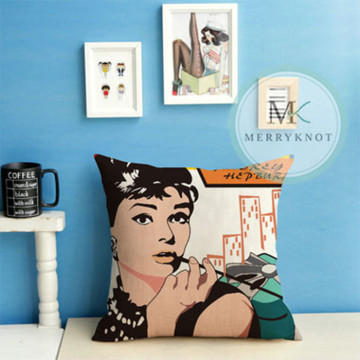 Audrey Hepburn Cushion Cover image