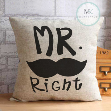 Mr Right [Graphic] Cushion Cover image