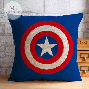 Captain America Shield Cushion Cover image