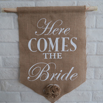 Ring Bearer Sign - Here comes the Bride image