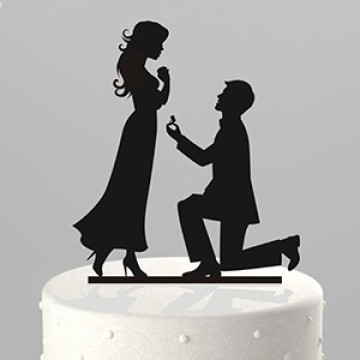 Wedding Proposal Acrylic topper image