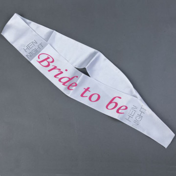 Bride to be Sash - White image