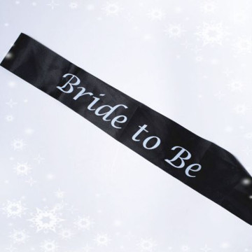 Bride to be Sash - Black image