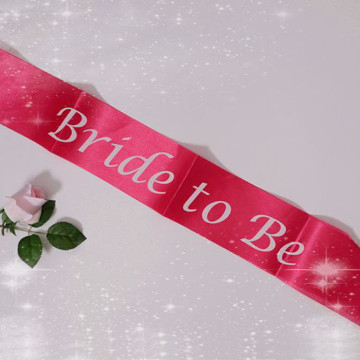 Bride to be Sash - Fuchsia Pink image
