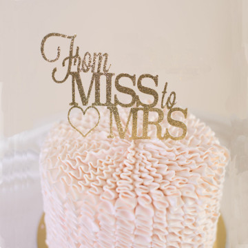From Miss to Mrs cake topper image