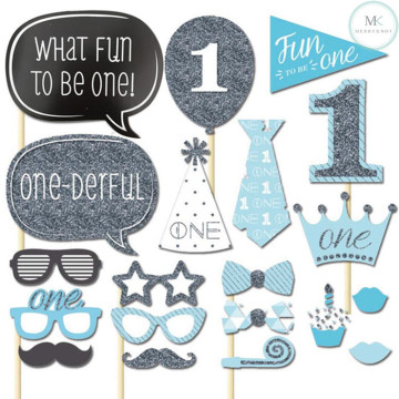 My first Birthday (Boy) 20PCS Photobooth Prop image