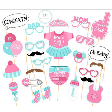 Baby Shower (Girl) 20PCS Photobooth Prop image