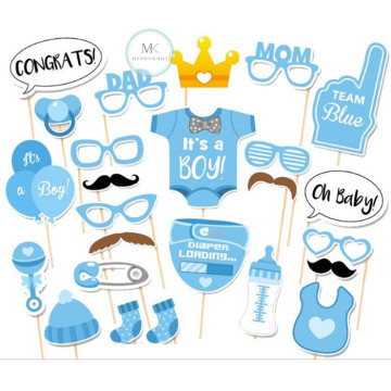 Baby Shower (Boy) 20PCS Photobooth Prop image