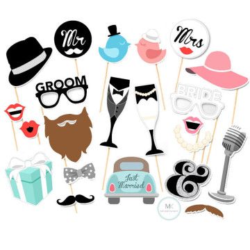 Just Married 22PCS Set Photobooth Prop image