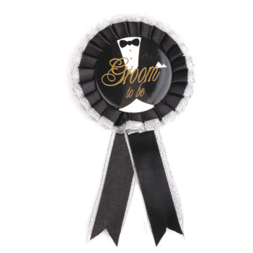 Groom to Be Badge Rosette image