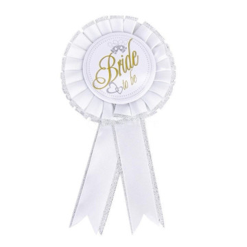 Bride to Be Badge rosette image
