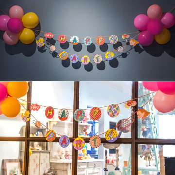 Happy Party Garland with Balloons set image