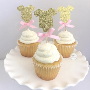 Baby Romper cupcake topper image
