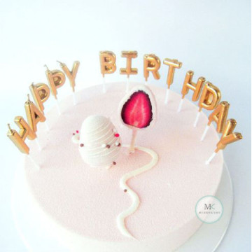 Happy Birthday Candle [Gold] image