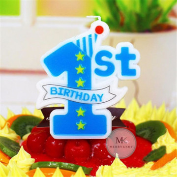 My 1st Birthday Candle [Blue] image