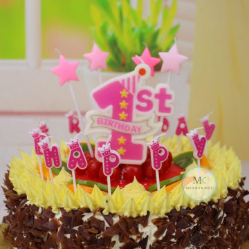 My 1st Birthday Candle [Pink] image