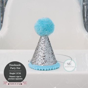 Glitter Party Hat [Blue] image