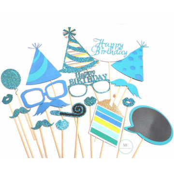 Happy Birthday [Blue] 18PCS Photobooth Prop image