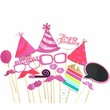 Happy Birthday [Pink] 18PCS Photobooth Prop image