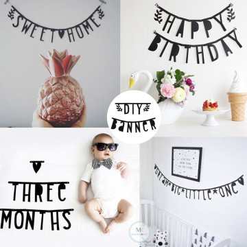 DIY Personalized Letter Banner [Black] image