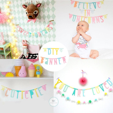 DIY Personalized Letter Banner [Pastel] image