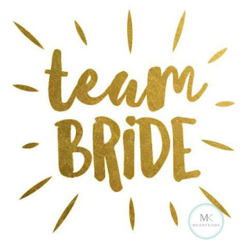 Team Bride Tattoo Sticker image