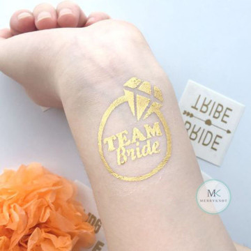 Team Bride Ring Tattoo Sticker image
