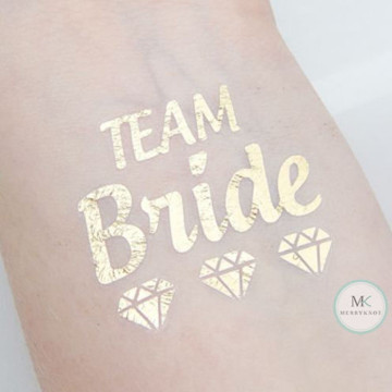 Team Bride Diamond Tattoo Sticker image