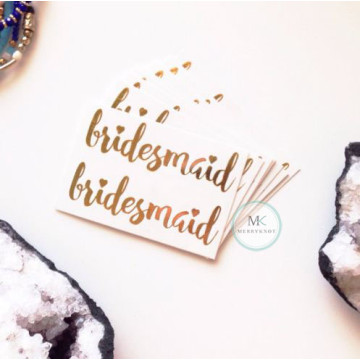 Bridesmaid Tattoo Sticker image