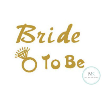 Bride to be Tattoo Sticker image