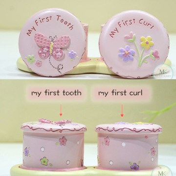 My First tooth and Curl keepsake box (Garden) image