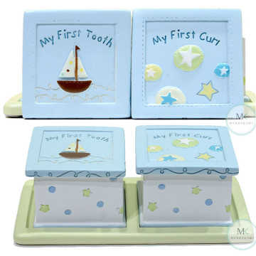 My First tooth and Curl keepsake box (Sailing stars) image