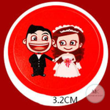 Design A6 Wedding Stickers image