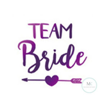 Team Bride Arrow Tattoo Sticker image