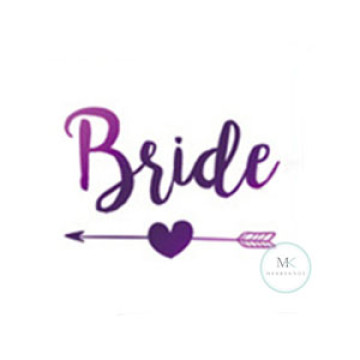 Bride Arrow Tattoo Sticker image