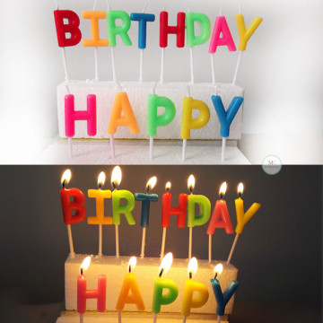 Happy Birthday Candle [Colourful] image