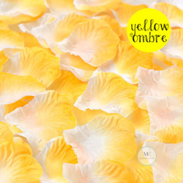 Rose Flower Petals [Yellow Ombre] image