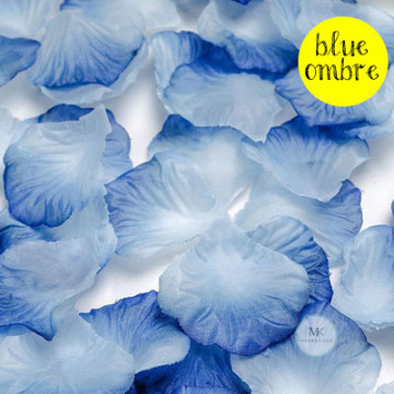 Rose Flower Petals [Blue Ombre] image