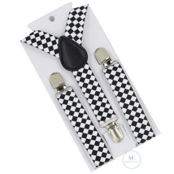 Children Checkered Suspenders image