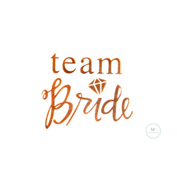 Team Bride Script Tattoo Sticker image