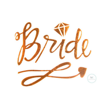 Bride Script Tattoo Sticker image