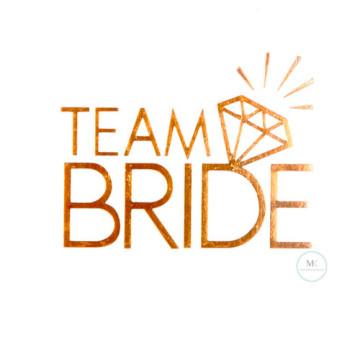 Team Bride Sparkle Tattoo Sticker image